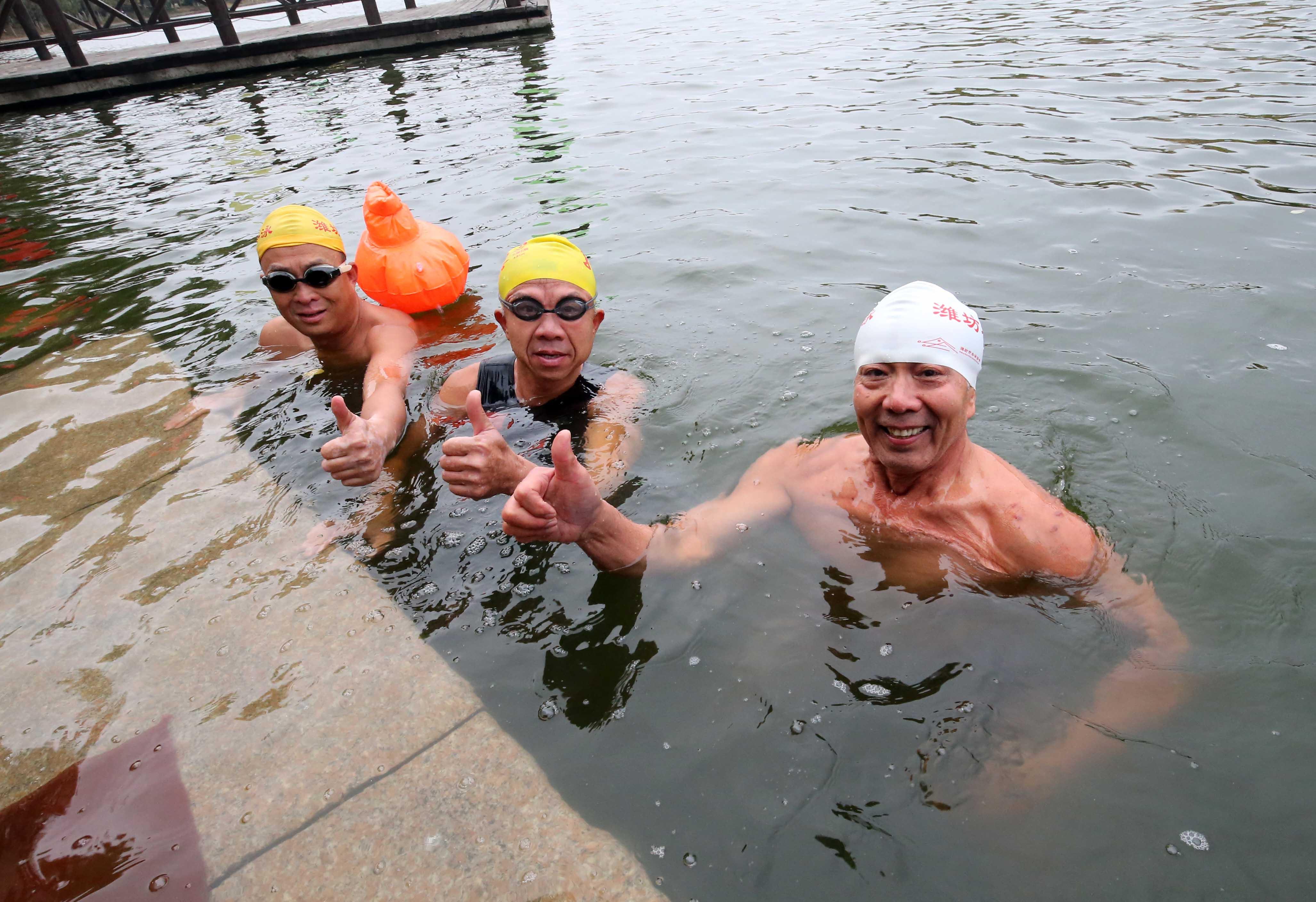 潍坊市冬泳协会超千人,他们游泳同时义务救生救助