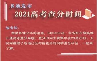 2021年高考成绩将陆续放榜