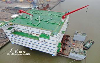 江蘇南通:世界最大、亞洲首座海上換流站裝船