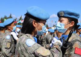 荣获联合国和平勋章