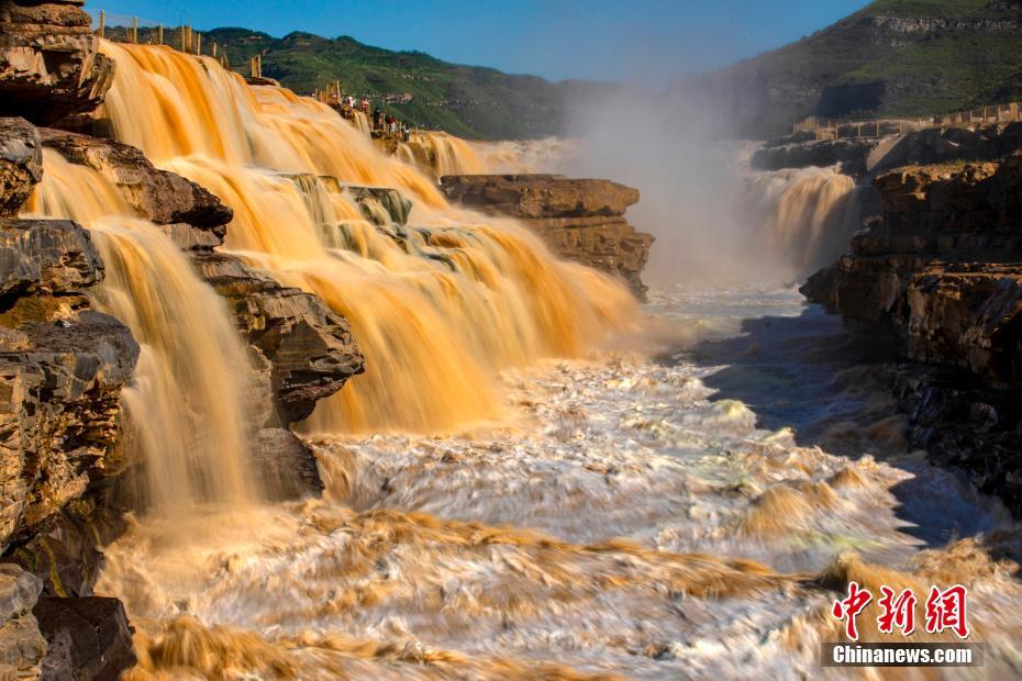 黄河壶口瀑布进入秋汛最佳观赏季